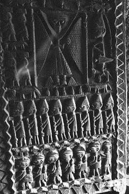 Door of the Palace of the Ewi, Ado-Ekiti, Nigeria, [negative]