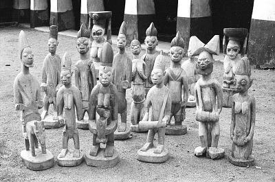 The Shango shrine of the Timi of Ede, Ede, Nigeria, [negative]