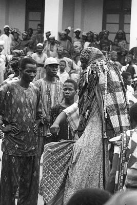 Egungun masquerade, Ede, Nigeria, [negative]