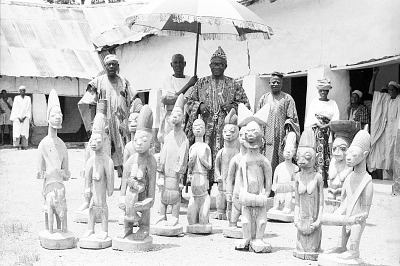 The Shango shrine of the Timi of Ede, Ede, Nigeria, [negative]