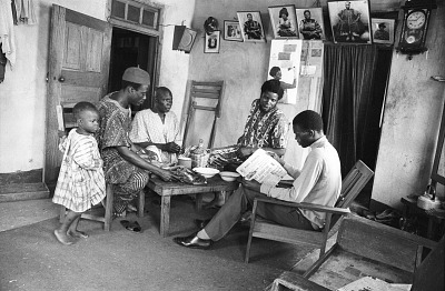 Home interior of Latifu Awoyale, Ibadan, Nigeria, [negative]