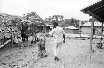 Greetings and salutations in a Yoruba village, near Ife, Nigeria, [negative]