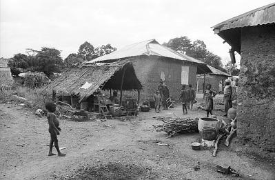 Cooking shelter, Ife, Nigeria, [negative]