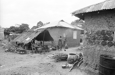 Cooking shelter, Ife, Nigeria, [negative]