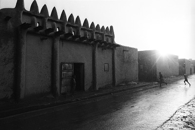 The external gate of a traditional earth building, Mopti, Mali, [negative]