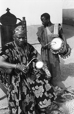 John Adetoyese Laoye I, Timi of Ede. Ede, Nigeria, [negative]