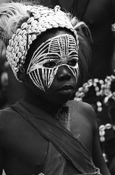 Dan acrobatic dancer, Man region, Ivory Coast, [negative]