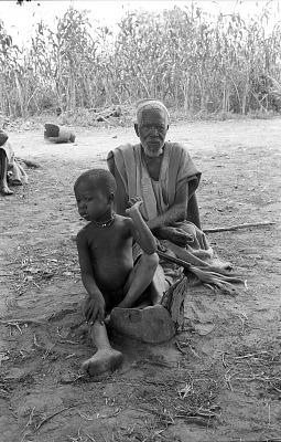 Child and old man, Bin village, Mali, [negative]