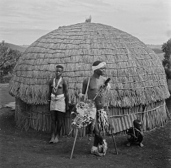 Zulu Man, Woman, and Boy