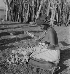 Transkei Woman Making Jewelry