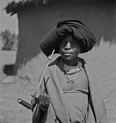 Transkei Woman With A Pipe