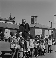 Father Huddleston With Children