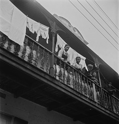 Muslim Family on Balcony
