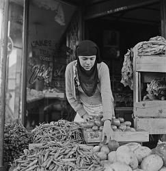 Muslim Woman Selling Food