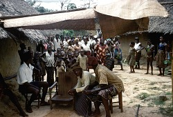 """""""Cow funeral"""" ceremony, Amaobolobo village, Afikpo Village-Group, Nigeria. [slide]"""