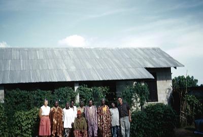Phoebe Ottenberg, Onye Efo, Ikem Obia, Tom Ibe, Chukwu Okoro, Utchey Ngwo, Ibero, and Ola, Afikpo Village-Group, Nigeria. [slide]