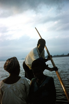 Trip down to Abayong area by wooden canoe, on the Cross River, Nigeria. [slide]