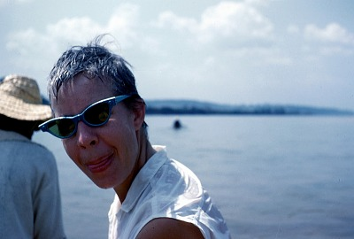 Phoebe Ottenberg, on the Cross River, Nigeria. [slide]
