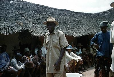 Elders feasting during the upward movement of the Afikpo age grades, Amaizu Village, Afikpo Village-Group, Nigeria. [slide]