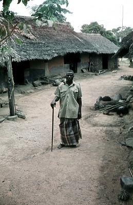 Chukwu Okoro dressed as an elder, Mgbom village, Afikpo Village-Group, Nigeria. [slide]
