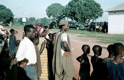 Visit of the Eze (ruler) of the Igbo communities of Arochukwu, Afikpo Village-Group, Nigeria. [slide]