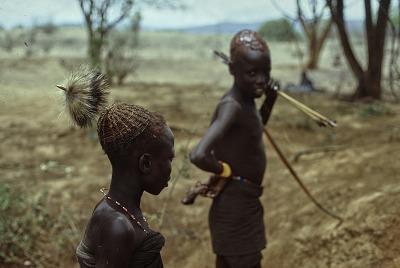 Uninitiated Pokot boys, 10-12 years old : Kenya