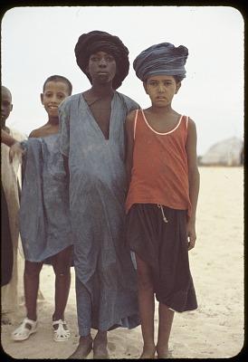 Tuareg children with turban, near Tombouctou, Mali, [slide]