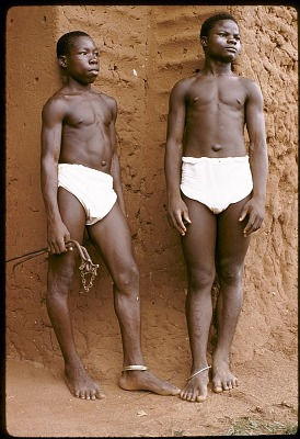 Servants at the court of Oba Akenzua II, Benin City, Nigeria. [slide]