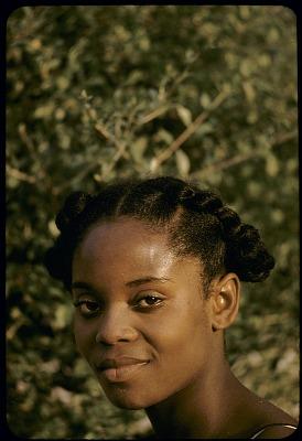 Amika Efiong, granddaughter of Ntoe Ika Ika Oqua II, ruler of the Qua clan, Big Qua Town, Nigeria. [slide]