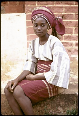 Yoruba woman wearing headties of their own creation, Ife, Nigeria, [slide]