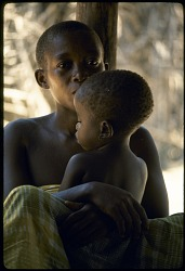 Woman and child, near Epulu, Ituri Forest, Congo (Democratic Republic), [slide]
