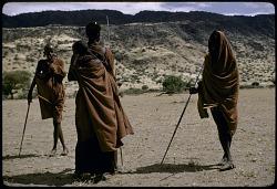 A group of pastoral Maasai, Rift valley region, Kenya. [slide]
