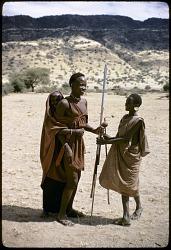 A group of pastoral Maasai. Rift valley region, Kenya. [slide]