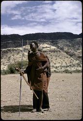 Maasai of ilmurran (warriors) age-grade, Great Rift Valley, Kenya, [slide]