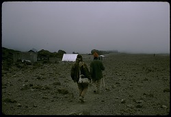 Tanzanian guides on the mountain slopes, Mount Kilimanjaro, Tanzania, [slide]
