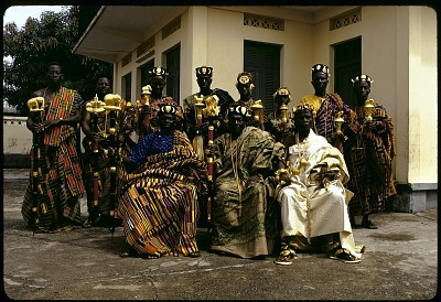 Kyaman chiefs and notables, Anna village, Ivory Coast, [slide]
