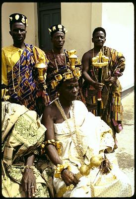 Jean-Baptiste Mobio and other village notables, Anna village, Ivory Coast, [slide]