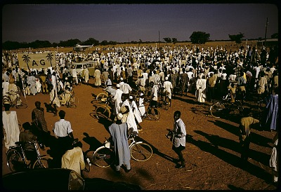 Crowd at Action group rally, Sokoto, Nigeria. [slide]