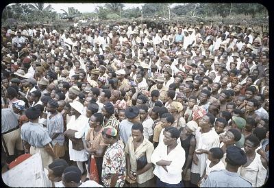 Large crowd at N.C.N.C. rally, Urualla, Nigeria. [slide]