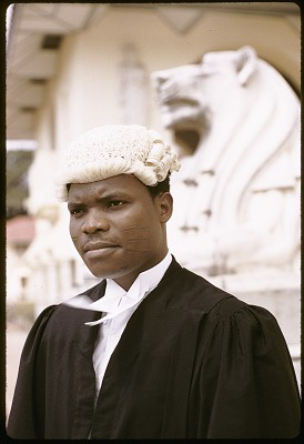 Diekola Ogundere, crown counsel at the Federal Legal Department, Lagos, Nigeria. [slide]