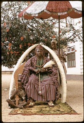 Oba Olateru Olagbegi II, the Olowo of Owo, Owo, Nigeria. [slide]