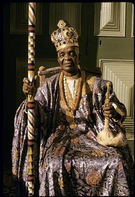 The Alake of Abeokuta, Sir Ladapo Samuel Ademola II, Abeokuta, Nigeria. [slide]