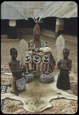 Oba Ademuwagun Adesida II, the Deji (ruler) of Akure, Akure, Nigeria. [slide]
