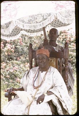 Sir Adesoji Aderemi, Oni of Ife, Ife, Nigeria, [slide]