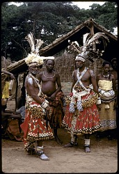 Kuba titleholders at the royal court, Mushenge, Congo (Democratic Republic). [slide]
