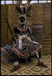 Kuba Nyim (ruler) Kot a Mbweeky III, Bungamba village, Congo (Democratic Republic), [slide]
