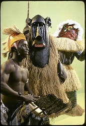 Mende masqueraders from the Liberian National Dance Troupe, [slide]