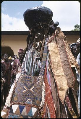 Egungun masquerade, Ede, Nigeria, [slide]