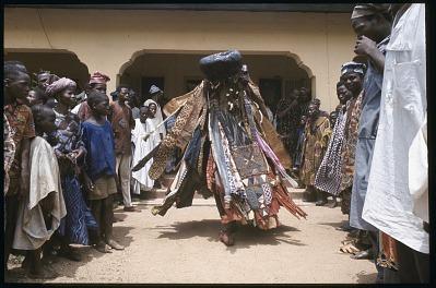 Egungun masquerade, Ede, Nigeria. [slide]
