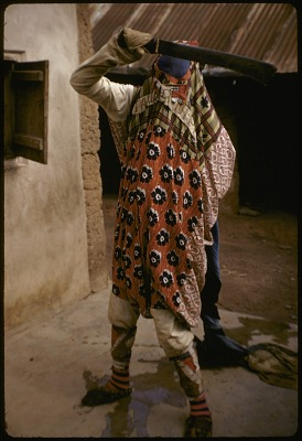 Ancestral masker performing at an Egungun masquerade, Oshogbo, Nigeria, [slide]